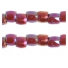 3 Cut Beads 10/0 Opaque Ruby Aurora Borealis Strung